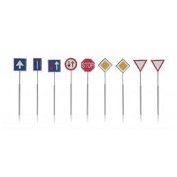 Dutch traffic road signs 9 pcs HO