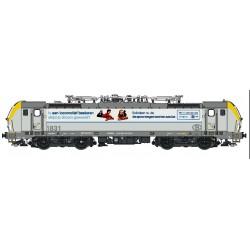 Locomotive Electrique Série 18² (1831) Blanc, faces jaunes, Ostende publicitaire, AC SON, H0