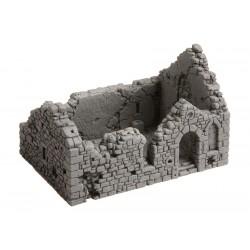 Chapelle en ruine, 10,5 x 6,7 cm, 6,7 cm de haut H0