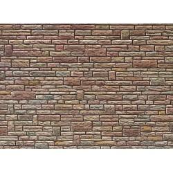 Plaque de mur gres vert-jaune-brun H0