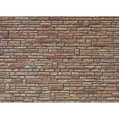 Plaque de mur gres vert-jaune-brun / Wall card, Cut stone, green-yellow-brown H0
