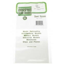 Feuille platique blanche / Plain Sheet Styrene 0.13 * 150 * 3 00 mm