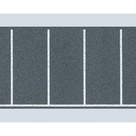 Parc de stationnement marquage rectangulaire / Parking space sheet H0