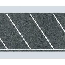Parc de stationnement marquage diagonal H0