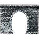 Entrée de tunnel 1 voie / Decorative sheet tunnel portal Pros, Natural stone ashlars H0