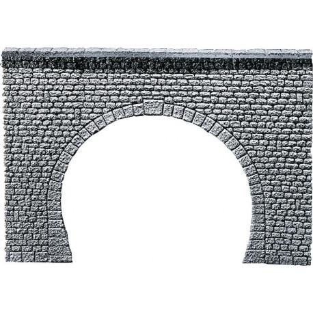 Entrée de tunnel 2 voies / Decorative sheet tunnel portal Pros, Natural stone ashlars H0