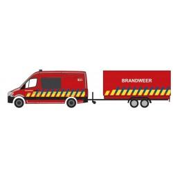 Mercedes Benz Sprinter Pompiers + remorque, Belgique, H0