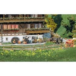 Quatre clôtures pour prés & jardins 2360mm / 4 Garden and field fences, 2360 mm H0