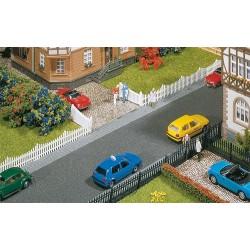 Clôture de jardin avec porte, 710 mm /Garden fences with gates, 710 mm H0