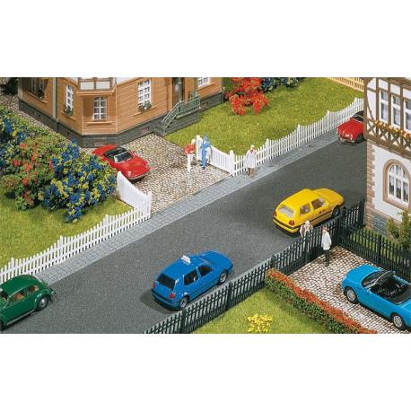 Clôture de jardin avec porte, 710 mm / Garden fences with gates, 710 mm H0