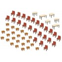 7 Tables & 48 chaises / 7 Tables and 48 Chairs H0