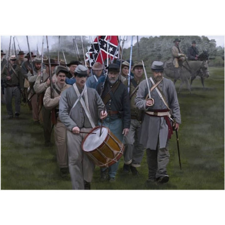 Confederate Troops on the March 1/72