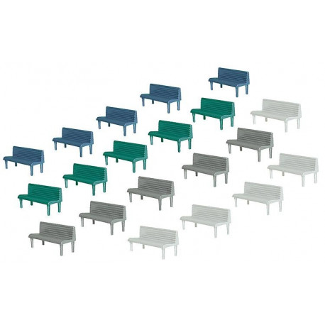 20 Bancs / 20 Benches H0