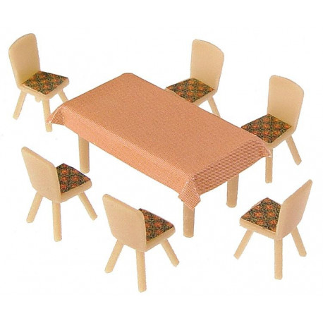 4 tables et 24 chaises / 4 Tables and 24 Chairs H0