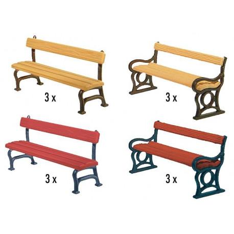 12 bancs de parc / 12 Park benches H0