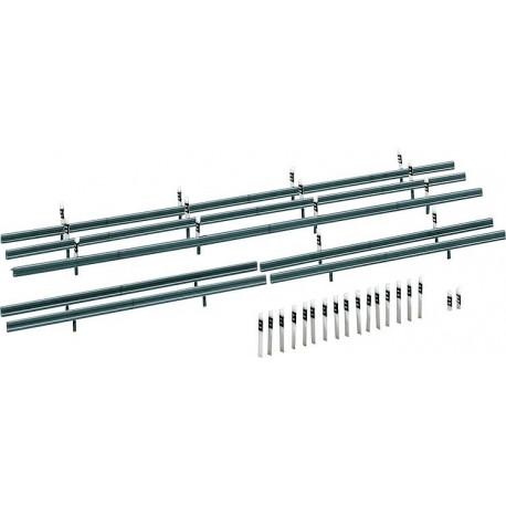Glissière de protection 32 bornes de délimitation / Crash barriers, 32 Marker posts H0