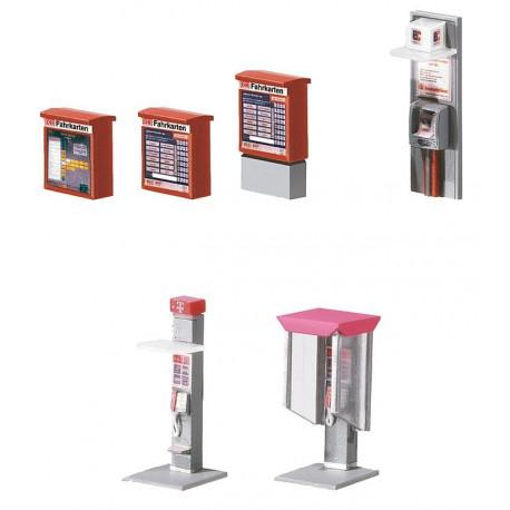 Eléments d'aménagement de ville / Town Decoration Elements H0