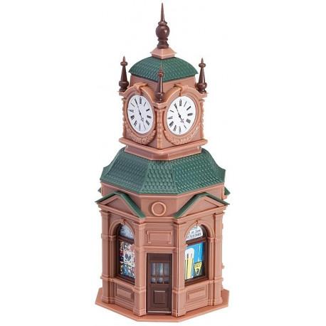 Kioske avec montre / Clock kiosk H0