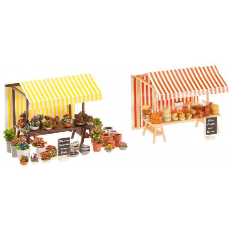 Stand fleurs & fromages / Flower and cheese stand H0