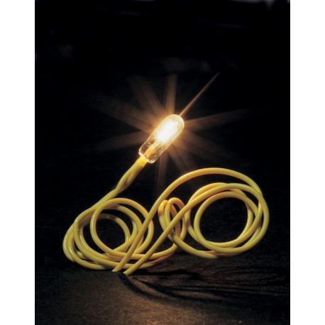 Mini ampoule blanche à câble / Micro-cable bulb, white