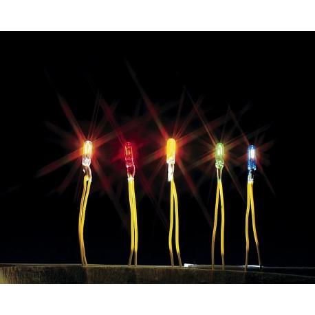 Mini ampoule rouge à câble / Micro-cable bulb, red