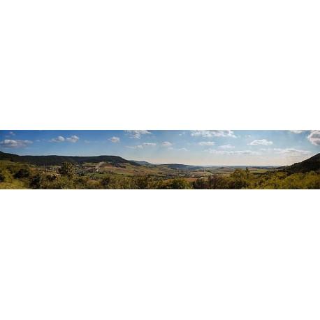 Décor fond paysage montagne Sauschwänzlebahn 2700 X 500 MM