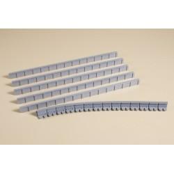 Côtes plateforme / Platform sides 13 mm H0