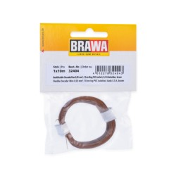 Câble Brun / Decoder wire Brown 0,05mm², 10m