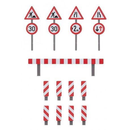 Jeu de panneaux de chantier / Set of building site traffic signs H0