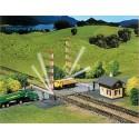 Passage à niveau avec barrières / Gated railway crossing N