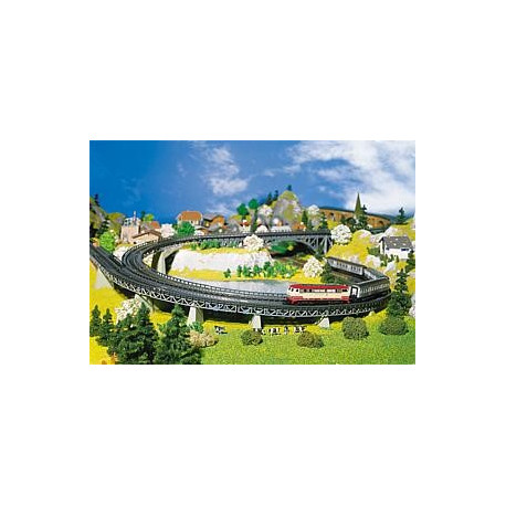 6 chemins de roulement courbe / 6 Track beds, curved N