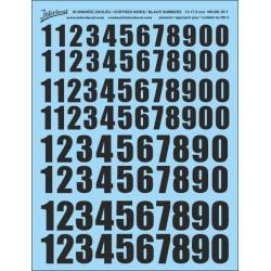 Décalcomanie Chiffres noirs de 13 à 17.5 mm