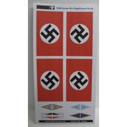 Drapeaux Allemands / German War Flags & Pennant Decals 1/35