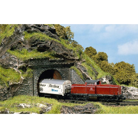 2 entrées de tunnel / 2 Tunnel portals N