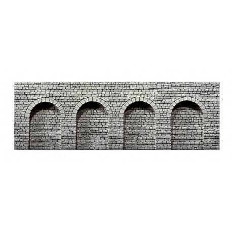 Dalle décoration arcades pierre naturelle / Decorative sheet Arcades, Natural stone ashlars N
