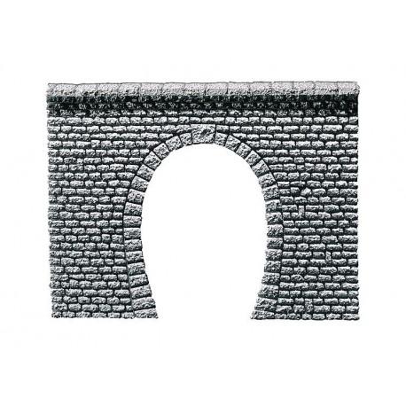Entrée de tunnel pros pierre naturelle taillée / Tunnel portal, Natural stone ashlars N