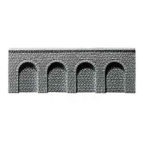 Mur de soutien avec arcades / Decorative sheet arcades, Natural stone ashlars N