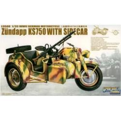 German Zundapp Ks750 With Sidecar W/ Trailers 1/35