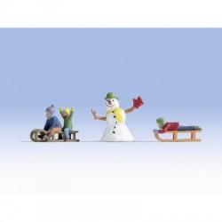 Enfants dans la Neige / Children in the Snow H0