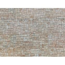"""Feuille de carton 3D """"Mur en pierre calcaire"""" H0"""