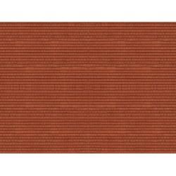 "Feuille de carton 3D ""Tuiles"", rouge / 3D Cardboard Sheet ""Roof Tile"" N"