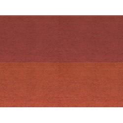 """Feuille de carton 3D """"Tuile alsacienne"""", rouge / 3D Cardboard Sheet """"Plain Tile"""" N"""
