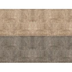 """Feuille de carton 3D """"Tuile alsacienne"""", gris / 3D Cardboard Sheet """"Plain Tile"""" N"""