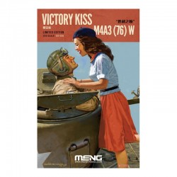 US M4A3 76mm with Figures Victory Kiss Limited Edition 1/35