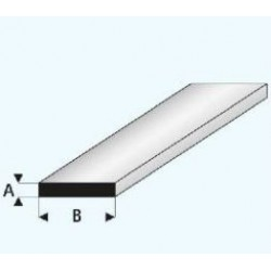 Profilé Plastique Plat 1000 * 1 * 2 mm