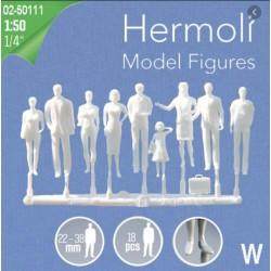 Hermoli 18 Standing Figures White 1/50