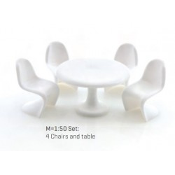 Chaises Panton & table ronde / Panton Chairs with table 1/50