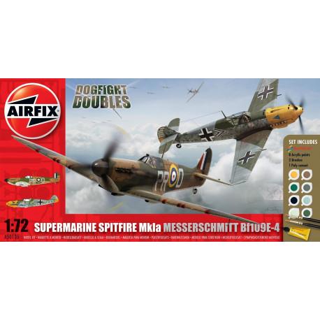 Spitfire MkIa & Messerschmitt Bf109E-4 Dogfight Doubles 1/72