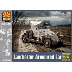 British Lanchester Armoured Car, WWI, 1/35