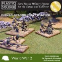 Infanterie et armes lourdes russes WWII / Russian Infantry Heavy Weapons WWII, 15mm